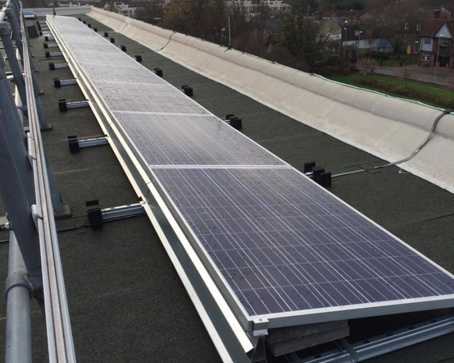 Shire Hall - West Roof solar PV array